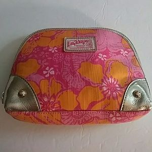 Lilly Pulitzer floral makeup case